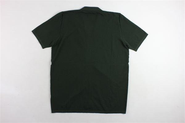 camicia mezza manica tinta unita con microfantasia ROBERTO COLLINA | Camicie | RA11011VERDE MILITARE
