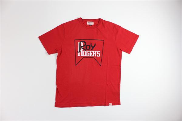 t-shirt mezza manica tinta unita  con stampa ROY ROGER'S | T-shirts | 2457ROSSO