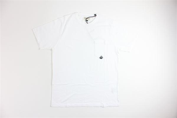t-shirt mezza manica tinta unita ROY ROGER'S | T-shirts | 4555BIANCO