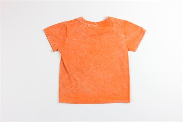 t-shirt tinta unita con stampa SELINI ACTION   T-shirts   19-03ARANCIO