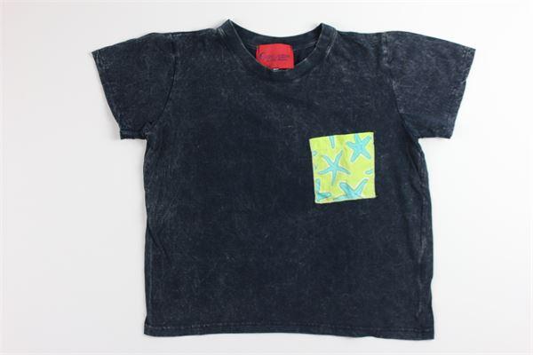 t-shirt tinta unita con stampa SELINI ACTION   T-shirts   19-08BBLU
