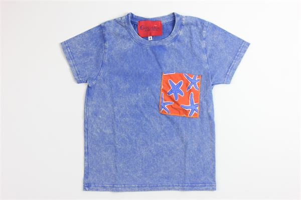 t-shirt tinta unita con stampa SELINI ACTION   T-shirts   19-08BCELESTE