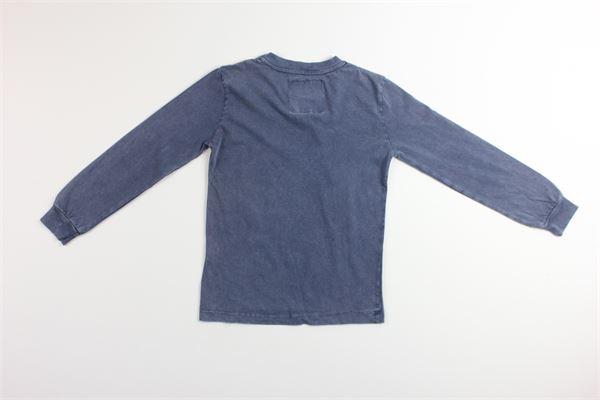 shirt tinta unita con stampa SHOE | Shirts | 4087BLU