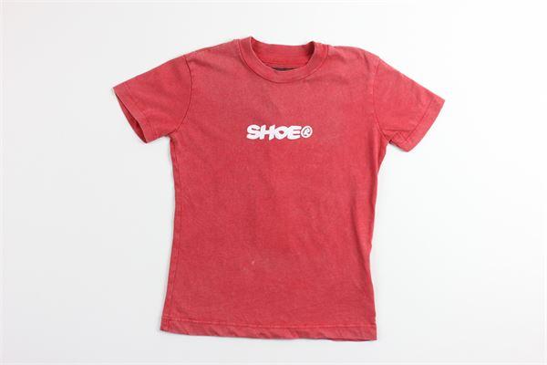 t-shirt tinta unita con stampa SHOE | T-shirts | F9TRENTJ4085ROSSA