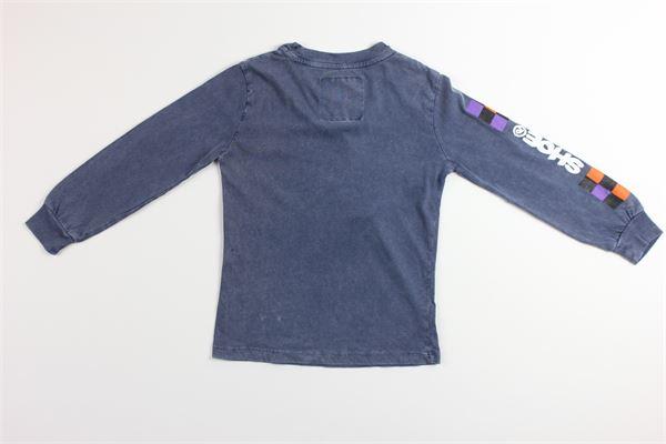 shirt tinta unita con stampa SHOE | Shirts | F9TRENTONJ4084BLU