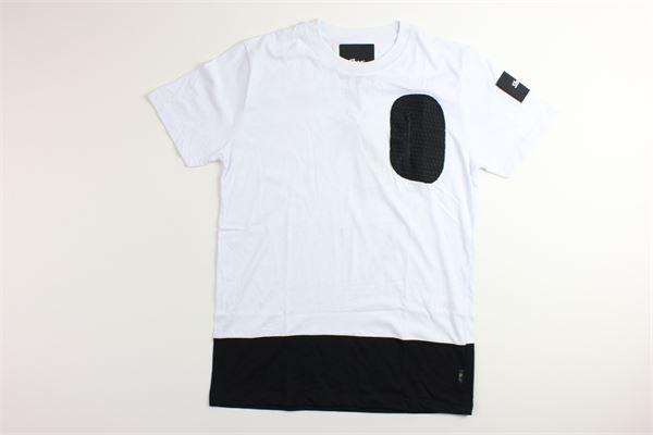 t-shirt tinta unita con profili in contrasto SHOE | T-shirts | F9TYJ51BIANCO