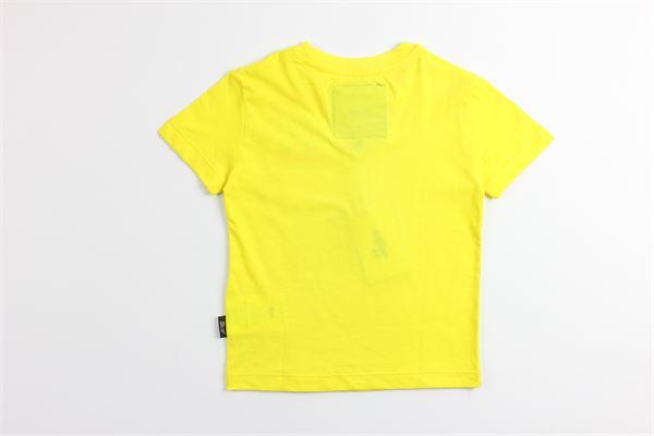 t-shirt tinta unita con stampa SHOE | T-shirts | TATTONJ2121GIALLO