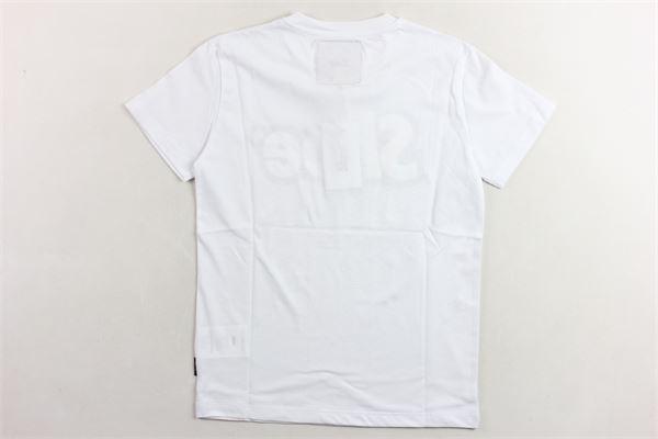 t-shirt tinta unita  con stampa SHOE | T-shirts | TIMMYJ0101BIANCO