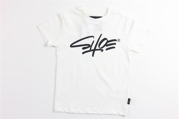 t-shirt tinta unita con stampa SHOE | T-shirts | TIMMYJ0511BIANCO