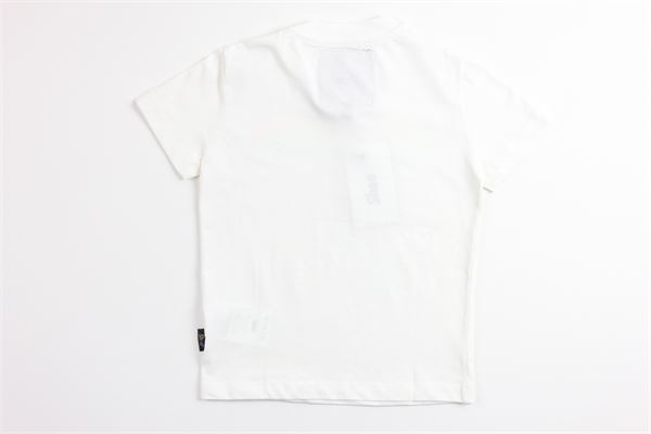 t-shirt tinta unita con stampa SHOE | T-shirts | TIMMYJ0513BIANCO