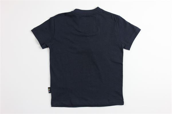 t-shirt tinta unita con stampa SHOE | T-shirts | TIMMYJ0513BLU