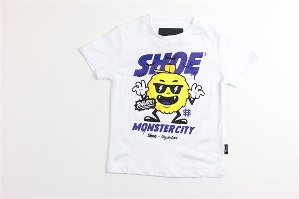 t-shirt tinta unita con stampa SHOE | T-shirts | TIMMYJ2120BIANCO