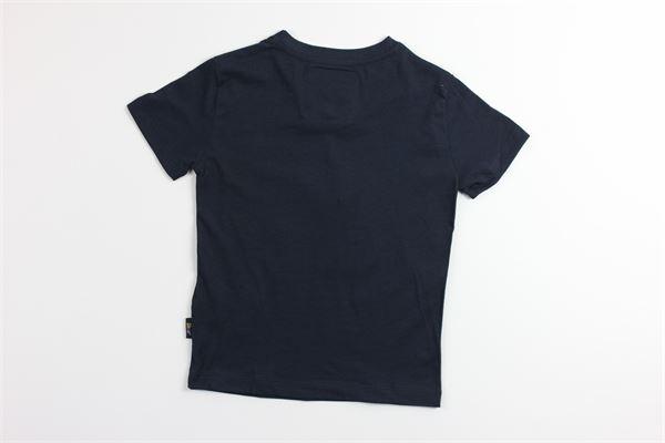 t-shirt tinta unita con stampa SHOE | T-shirts | TIMMYJ2123BLU
