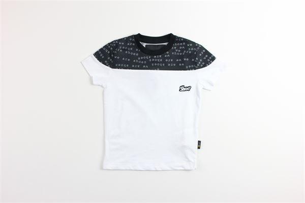 t-shirt tinta unita con stampa SHOE | T-shirts | TUCKERJ13BIANCO