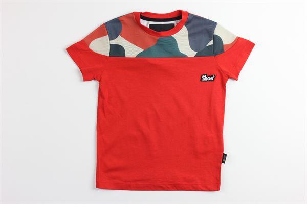t-shirt tinta unita con stampa SHOE | T-shirts | TUCKERJ13ROSSO