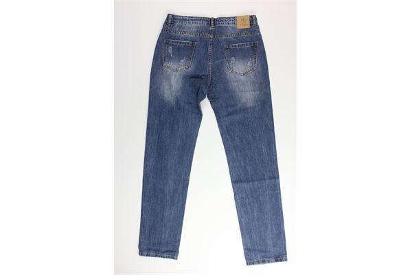 jeans tinta unita con strappi e girovita regolabile SILVIAN HEACH | Jeans | SKJIF0234JEANS