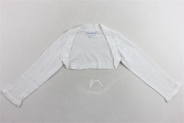 coprispalle manica lunga con pailettes tinta unita SIMONETTA | Coprispalle | 1G9010BIANCO