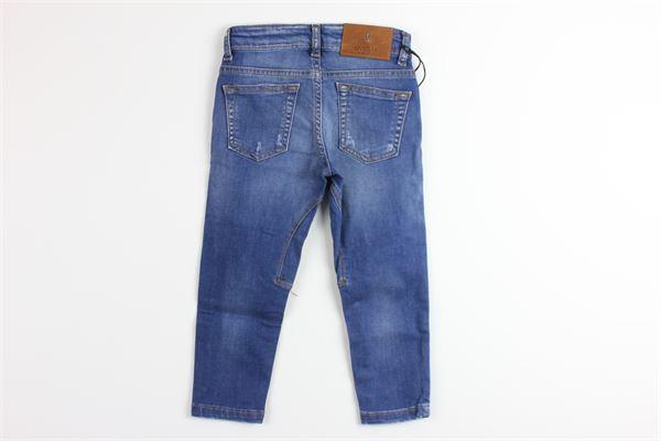 jeans tinta unita 5 tasche girovita regolabile SIVIGLIA | Jeans | SVJPT4825BLU