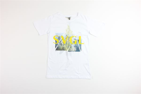 t-shirt mezza manica tinta unita con stampa SIVIGLIA | T-shirts | SVJTS3252BIANCO
