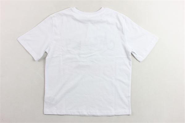 t-shirt mezza manica in cotone tinta uita con stampa STELLA McCARTNEY | T-shirts | 539291SMJTABIANCO