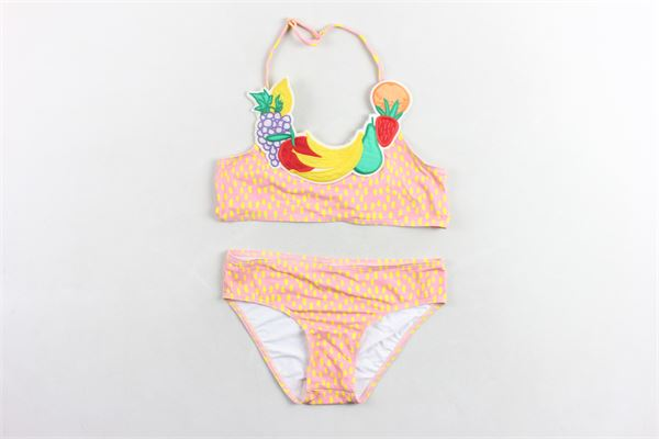 bikini in licra tinta unita stampa fantasia e applicazione frutta STELLA McCARTNEY | Costumi | 539572SMK06ROSA