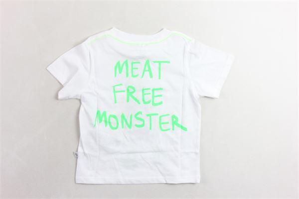 t-shirt mezza manica tinta unita con stampa STELLA McCARTNEY | T-shirts | 539755SMJTCBIANCO