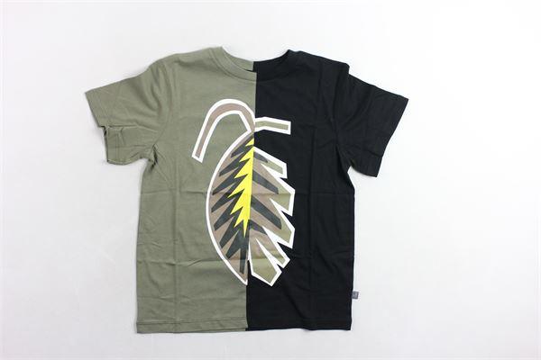 t-shirt mezza manica bicolore con stampa STELLA McCARTNEY | T-shirts | 539756SMJ26VERDE MILITARE