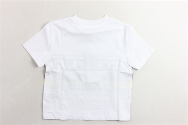 t-shirt mezza manica tinta unita con stampa STELLA McCARTNEY | T-shirts | 539764SMJ44BIANCO