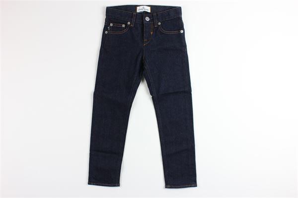 jeans tinta unita 5 tasche girovita regolabile STONE ISLAND | Jeans | 6916J3111BLU