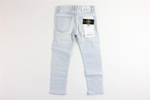 jeans tinta unita 5 tasche girovita regolabile STONE ISLAND | Jeans | 7016J3219AZZURRO