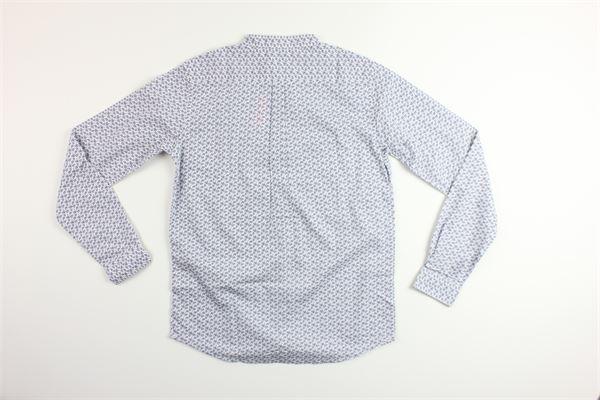 camicia manica lunga con microfantasia SUN68   Camicie   S30311BIANCO/BLU