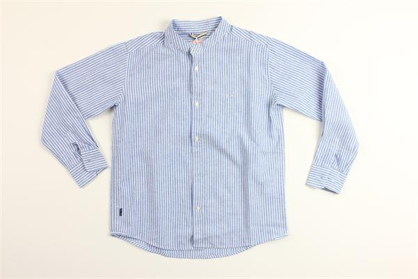 camicia manica lunga con fantasia a righe SUN68 | Camicie | S30312CELESTE