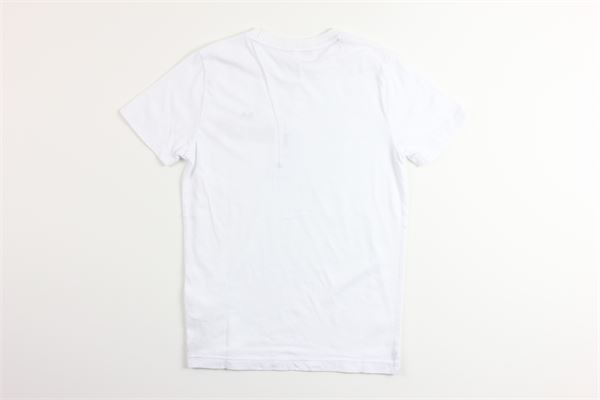 t-shirt mezza manica tinta unita con stampa SUN68 | T-shirts | T30304BIANCO