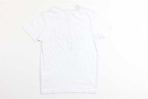 t-shirt mezza manica tinta unita con stampa SUN68 | T-shirts | T30305BIANCO