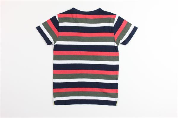 t-shirt mezza manica multicolor stampa righe 100%cotone SUN68 | T-shirts | T30311MULTICOLOR