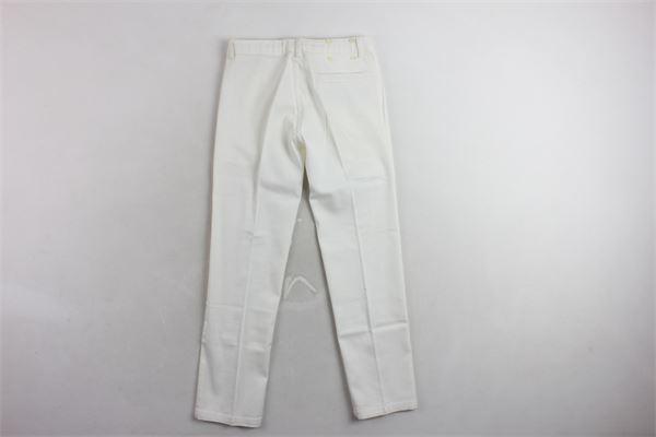 pantalone tinta unita  tasca americana TAGLIATORE | Pantaloni | CE40BIANCO