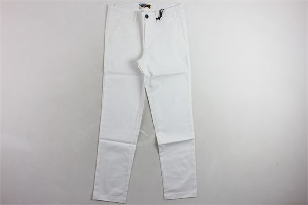 pantalone tinta unita TAGLIATORE | Pantaloni | TPA131BIANCO