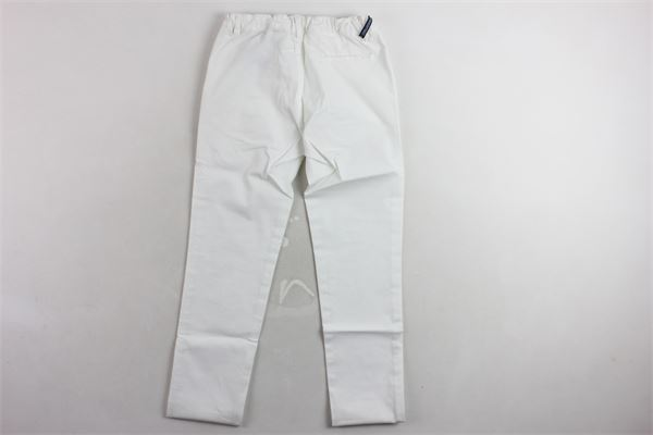 pantalone tinta unita microfantasia tasca americana TAGLIATORE | Pantaloni | TPA152XBIANCO