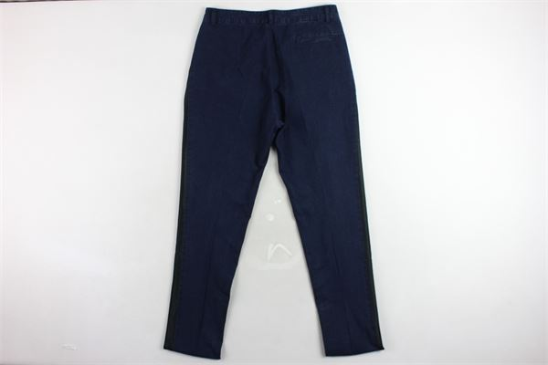 pantalone in denim con profili in contrasto pence tasca americana TAGLIATORE | Pantaloni | TPA505BLU
