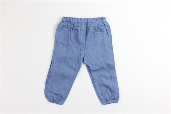 jeans elastico in vita tinta unita con rouches TARTINE ET CHOCOLAT | Jeans | TQ22021JEANS