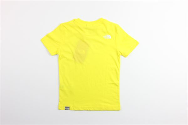 t-shirt tinta unita con stampa mezza manica THE NORTH FACE | T-shirts | NF0A2WANDW91GIALLO