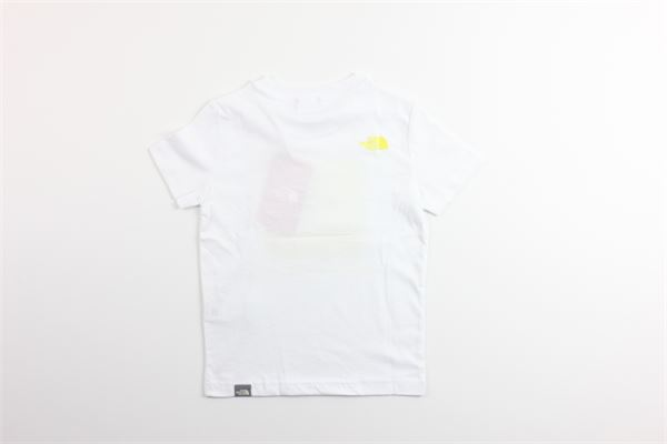 t-shirt tinta unita con stampa mezza manica THE NORTH FACE | T-shirts | NF0AMBS2P801BIANCO