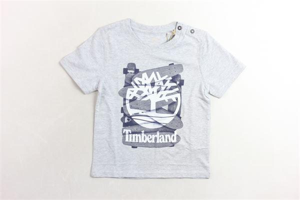 mezza manica con stampa TIMBERLAND | T-shirts | T05H54GRIGIO