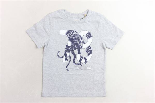 t-shirt mezza manica tinta unita con stampa TIMBERLAND | T-shirts | T25N60GRIGIO