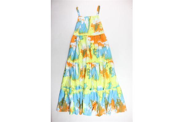 abito lungo a bretelline multicolor veste bene dalla taglia s alla taglia xl VICOLO   Abiti   TK1819MULTICOLOR