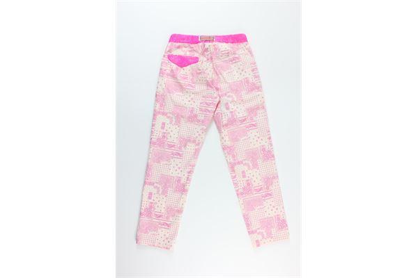 pantalone stampa fantasia  con elastico in vita WHITE SAND | Pantaloni | 20SD16570-RTROSA