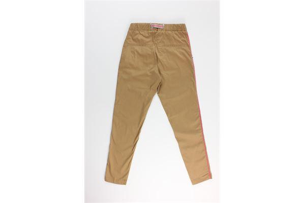 pantalone tinta unita con profili in contrasto WHITE SAND | Pantaloni | 20SD61310-ZTABACCO