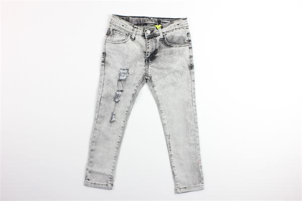 jeans in denim tinta unita con girovita regolabile e strappi YOSHI | Jeans | 2034GRIGIO