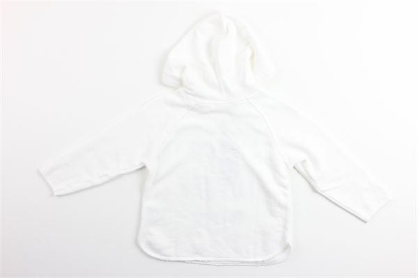 felpa tinta unita con cappuccio e stampa 100%cotone ZHOE & TOBIAH | Felpe | JFL14BIANCO
