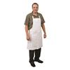 "Intedge 37"" x 40"" White Cotton Apron"